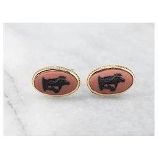 Wedgwood Terra Cotta Cameo Stud Earrings