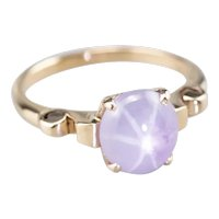 Upcycled Purple Star Sapphire Ring