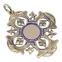 Ornate Enameled Cross Pendant