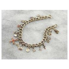 Unique Masonic Themed Charm Bracelet