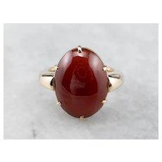 Antique Carnelian Cabochon Ring