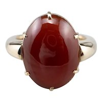 Antique Carnelian Cabochon Ring