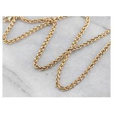 Woven Wheat Box Chain Necklace