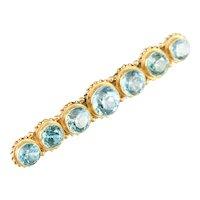 Stunning Antique Blue Zircon Bar Pin