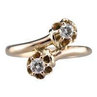 Buttercup Diamond Bypass Ring