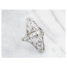 Antique Old Mine Cut Diamond Dinner Ring