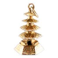 Pagoda Temple Charm or Pendant
