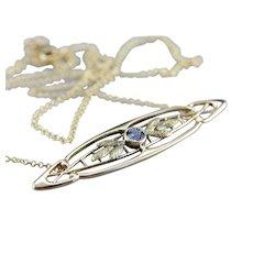 Nouveau Sapphire Conversion Necklace