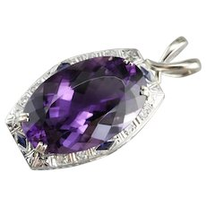 Upcycled Amethyst Statement Pendant