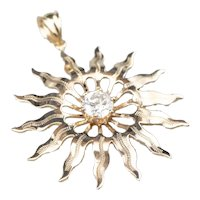 Diamond Solitaire Sun Pendant