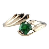 Vintage Tsavorite Garnet Bypass Ring