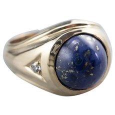 Vintage Lapis Diamond Statement Ring
