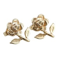 Vintage Flower Stud Earrings