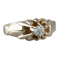 Victorian Old Mine Cut Diamond Ring