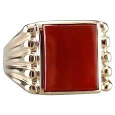 Vintage Carnelian Men's Statement Ring
