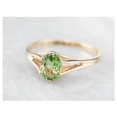 Sweet Green Tourmaline Ring