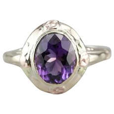 Upcycled Retro Amethyst Ring