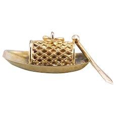 Little Fishing Boat Charm Pendant