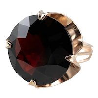Vintage Large Garnet Cocktail Ring