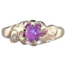 Lovely Victorian Star Ruby Ring