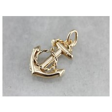 Vintage Anchor Charm or Pendant