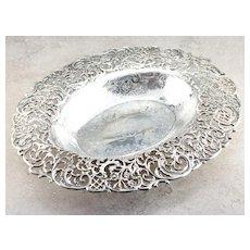 Antique 925 Sterling Silver J.E.Caldwell & Co Serving Platter