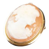 Vintage Shell Cameo Pin or Pendan