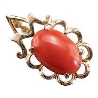 Sweet Vintage Coral Pendant