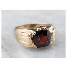 Retro Era Men's Garnet Ring