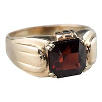 Retro Era Men's Garnet Ring