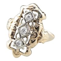 Lovely Vintage Diamond Dinner Ring
