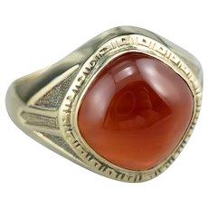 Early Retro Carnelian Men's Statement Ring