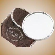 Vintage Gorham 925 Sterling Silver Pocket Mirror
