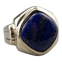 Retro Lapis Men's Statement Ring