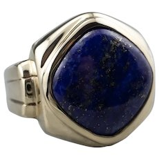 Retro Lapis Men's Statement Ring