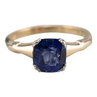 Stunning Retro Era Sapphire Solitaire Ring