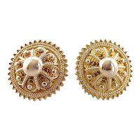 Ancient Style Filigree Stud Earrings