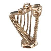 Vintage Standing Harp Charm