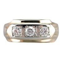 Men's Three Stone Vintage Diamond Ring