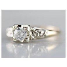 Sweetheart Diamond Engagement Ring