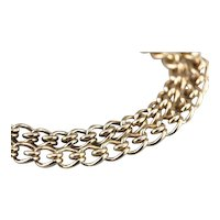 Twisted Wire: Double Link Chain Bracelet