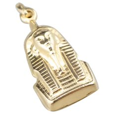 King Tut Bust Charm or Pendant