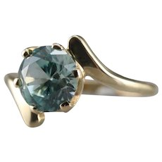 Lovely Upcycled Blue Zircon Bypass Ring