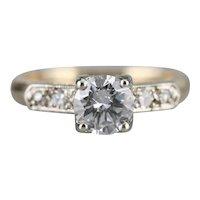 Romantic Retro Era Diamond Engagement Ring