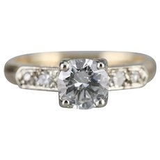 Romantic Retro Era Diamond Engagement Ring