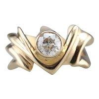 Funky Old Mine Cut Diamond Ring