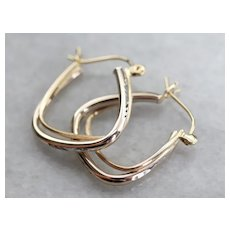 Modernist Squared Hoop Earrings
