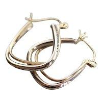 Modernist Squared Hoop Earrings
