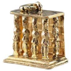 Vintage 18 Karat Gold Porch of the Caryatids Charm