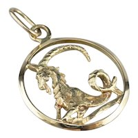 Capricorn Vector Zodiac Pendant